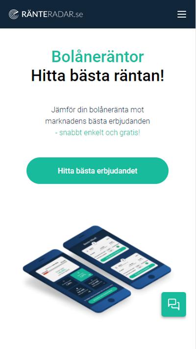 Ränteradar.se forside